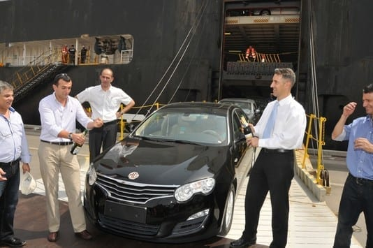 מכוניות MG550 הסיניות הגיעו לישראל