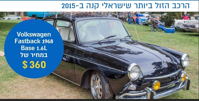 המכונית הזולה ביותר שרכב ישראלי ב-eBay ב-2015