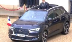 ה- DS7 Crossback כיכבה עם נשיא צרפת החדש