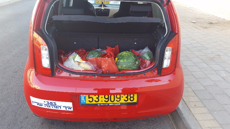 תא מטען בנפח 251 ליטר, מאכלס עגלת קניות מלאה ללא בעיה