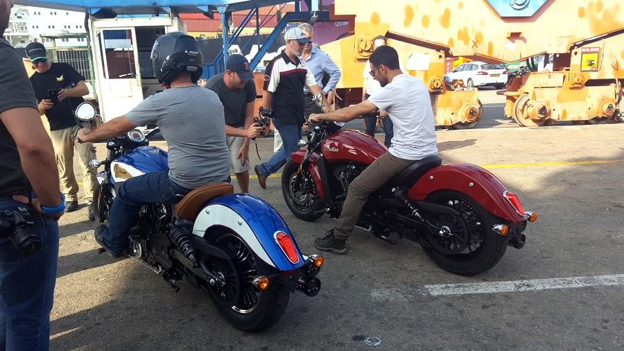 צמד אופנועי אינדיאן הראשונים בישראל