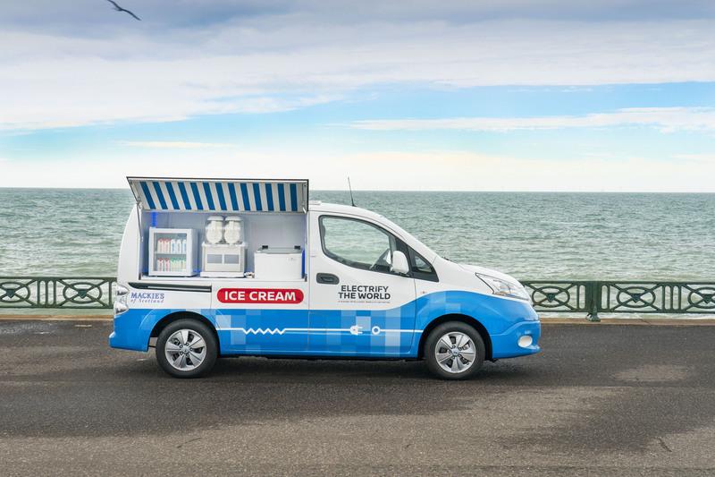 אוטו גלידה ניסאן חשמלי