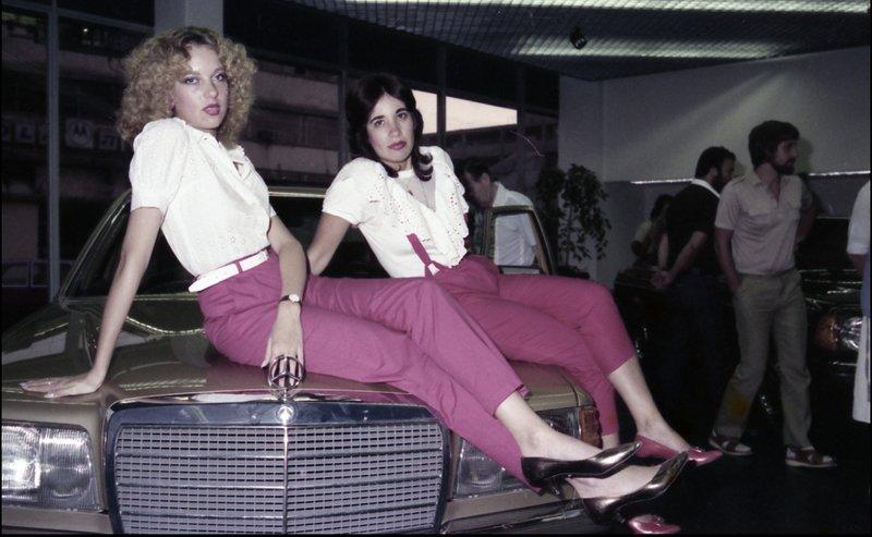 אולם תצוגה חדש מרצדס 1982 (צילום: ישראל סאן, ארכיון הרווארד)